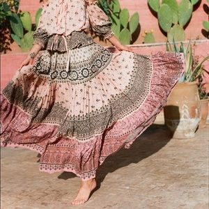 Spell and the gypsy lion heart pink skirt